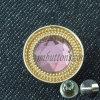 Tecla de cristal cor-de-rosa do metal do Rhinestone para calças de brim das mulheres