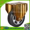 Elastische Gummiform auf Aluminiumkern-Rad-Fußrolle