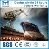 Cuatro grúas del astillero del auge son grúas resistentes usadas en astilleros por todo el mundo