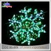 Grünes LED-Schneeflocke-Weihnachtsmotiv beleuchtet 60*60cm