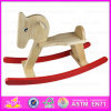 2015 Arrival novo Wooden Rocking Horse Toy, Promotional Wooden Toy Rocking Horse, Amazing Kindergarten Ride em Animal Toy W16D024