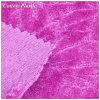 Púrpura/White Jacquard Velvet Fabric con Flower Pattern para Garment