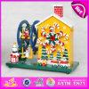 2015 Ziehen-Zeichenkette rotierende hölzerne Spieluhr, schöne antike hölzerne Spieluhren, Halloween-Geschenk-hölzerner Musik-Spielzeug-Großverkauf W07b017b