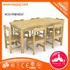 Conjunto de móveis de mesa de mesa longa e quente para pré-escolar