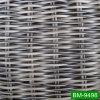 Material de fabricación crudo de mimbre plástico no de descoloramiento del PE Twisted del artículo para los muebles al aire libre