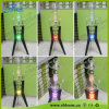 De beste Verkopende Waterpijpen van het Glas met Bevindende Steun LED+Metal