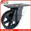 Roulette de pivot de Wastebin de 6 pouces à 8 pouces avec la roue malléable de fer