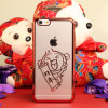 Chinesischer Style Electroplating Bainian Pattern Lightweight Plastic Handy Fall für iPhone 6plus