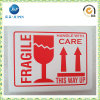 주문 설계하십시오 Shipping (JP s016)를 위한 Printing Adhesive Fragile Label를