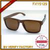 Fx15129 Wooden Sunglasses avec Brown Lens