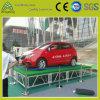 Estágio portátil para a exposição do carro