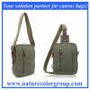 Saco do mensageiro & da cintura da lona com guarnição de couro