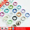 Botón rápido colores comerciales del aseguramiento de los varios para el vestir de los bebés
