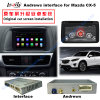 Surface adjacente visuelle GPS de navigation androïde de 7 de pouce HD multimédia pour Mazda 2014-2016 Cx-5