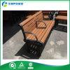 Bancos al aire libre del metal de los muebles del jardín, asiento de banco de madera al aire libre del bastidor (FY-060X)
