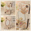 Bling Crystal Rhinestone Diamond Flip Wallet Argumento Cover para Phone