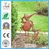 Figurine de fer d'art de yard de statue de canard en métal de jardin