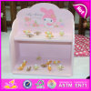 Dekoration Pink Kids Wooden Jewelry Box Wholesale, Various Design Custom Jewelry Box für Girl Gift W09e003