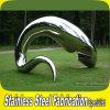 Asbtract feito-à-medida aço inoxidável escultura animal dos peixes