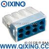 Ce 309 tipo empuje de Wago de 8 cuadrillas en el acero de Stainles del alambre o el conector del cobre con color azul