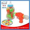 Пластичная игрушка малыша пушки воды бутылки с конфетой