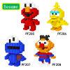 Monster Oskar van Cokkie van de Vogel van Elmo van het Speelgoed van het Sesame Street van de Bouwstenen van de diamant Het Grote het Stuk speelgoed van de Gift van Kinderen