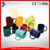 Caneca cerâmica padrão em várias cores