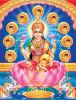 impression indoue d'affiche d'image de Dieu de Dieu 3D indien
