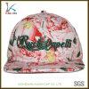 Sombrero floral barato del Snapback de la impresión del algodón de encargo con bordado