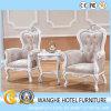 水晶が付いている贅沢な革白い余暇の屋内椅子