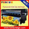 Impresora de alta velocidad de las etiquetas engomadas del vinilo del formato grande de Funsunjet Fs3202k (el 10FT, pistas de dx5 dx5, 1440dpi)