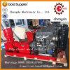 300 de 3-rol van kg/u de Bewegende Prijs van de Molen van de Korrel van de Dieselmotor Houten