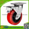 Industrielle Schwenker-Doppelt-Bremsen-Polyurethan-Rad-Fußrolle