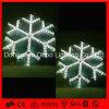 冷たく白い休日の装飾LEDロープの雪片ライト
