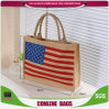Eco-Friendly оптовая продажа хозяйственной сумки джута типа способа