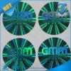 Etiqueta engomada olográfica del holograma del color verde