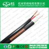cabo combinado do cabo Siamese de 75ohm RG6+18/2 18AWG