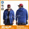Вскользь сверхразмерное с капюшоном голубое пальто для людей