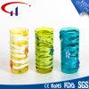 Bunte chinesische Art-Zylinder-Form Tealight Glaskerze-Halter (CHZ8044)