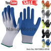 Nmsafety 10g Polyester Palm Coated Latex Labor Work Safety Glove