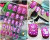 못 Tips Wholesale 24PCS Children Pre-Glued Nail Tips
