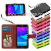 Portable fou Flip Wallet Leather Cover Cas de Slots Holder Book Stand Mobile Magnet de cartes de crédit d'identification de Horse pour Samsung Galaxy Note 6 Note6