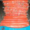 Barreira plástica do engranzamento da barreira que cerc o engranzamento alaranjado da segurança do engranzamento