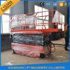 Ascenseur élevé de plate-forme de ciseaux d'équipement de nettoyage de bâtiment de plates-formes