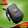 Sostenedor dominante auto del cuero genuino de la insignia de VW