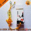 USB de cerámica Pendrive (YT-9103) de la Salpicar-Tinta de encargo del regalo