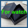 Schwarze Luxuxuhr-Papierkasten mit kundenspezifischem Drucken