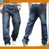 Gli uomini dell'OEM dimagriscono i pantaloni di base del Jean del cotone di modo adatto dei jeans