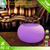 Mobília comercial do diodo emissor de luz do plástico, mesa redonda da mobília Home do jardim com vidro