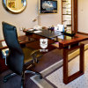 Oberste hölzerne niedrige Hotel-Schreibtisch-Glasmöbel mit Sideboard